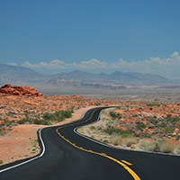 Road stretching into the distance - developing your vision